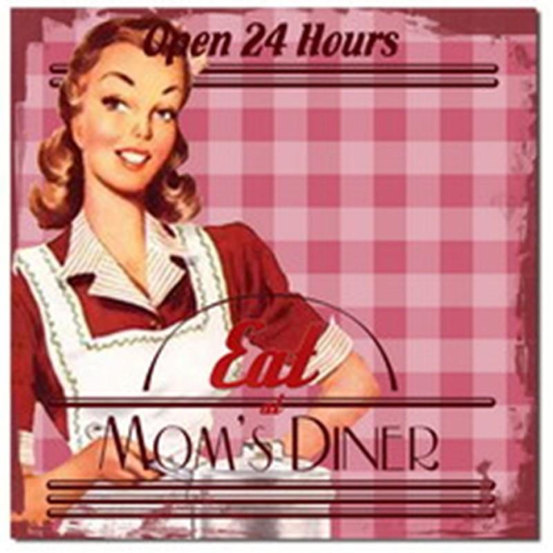 Eat Mom's Dinner - Pink - Quadros