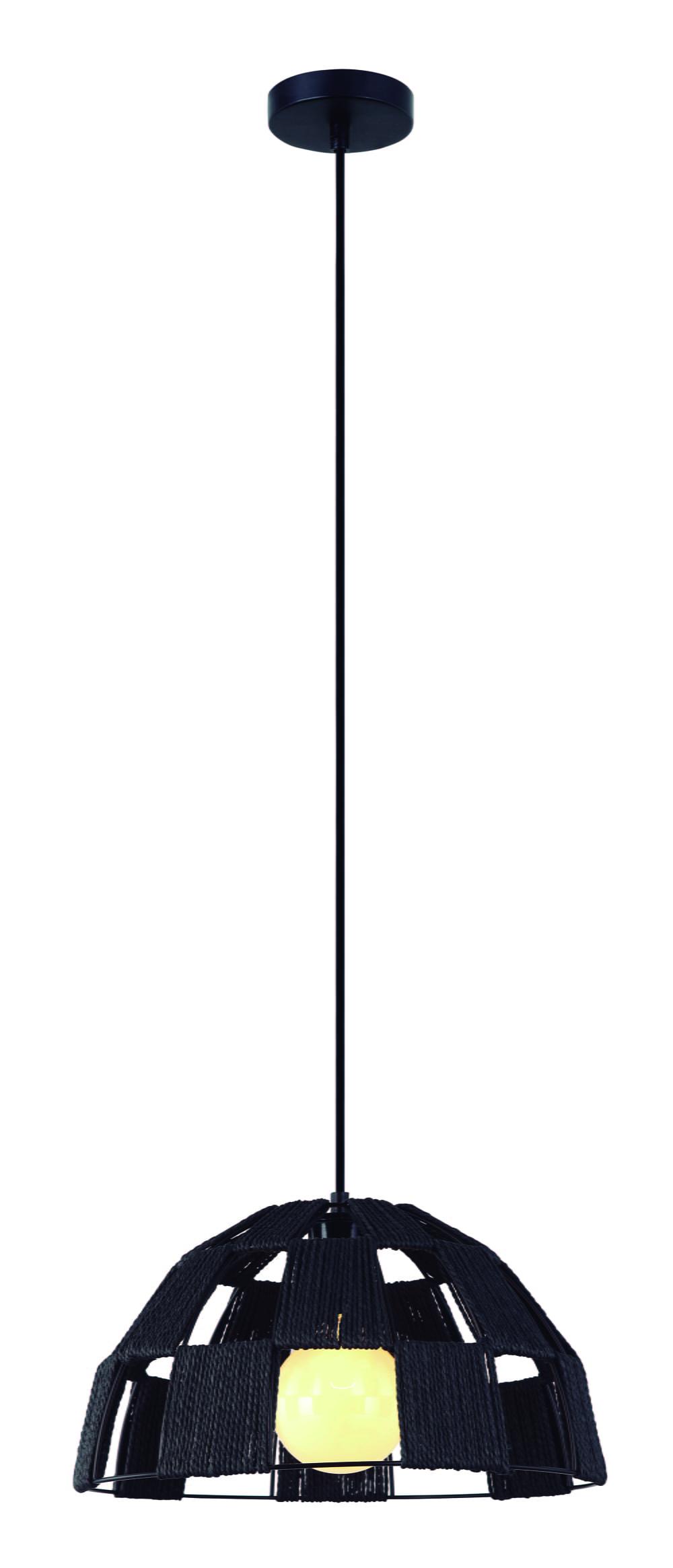 Meia Lua Grande - Pendente Vazado de Ferro + Tecido - Diâmetro 40 cm