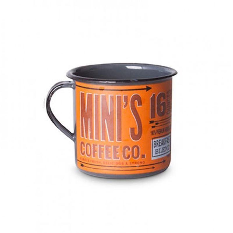 Mini's Coffee Co. Laranja - Tamanho M - Caneca de Metal