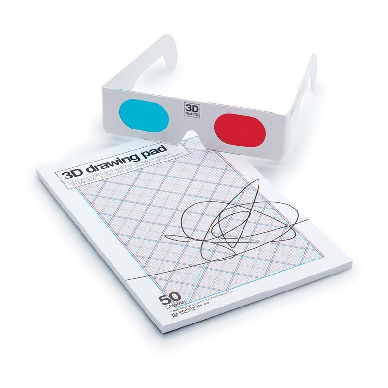 3D com Óculos - Bloco de Notas