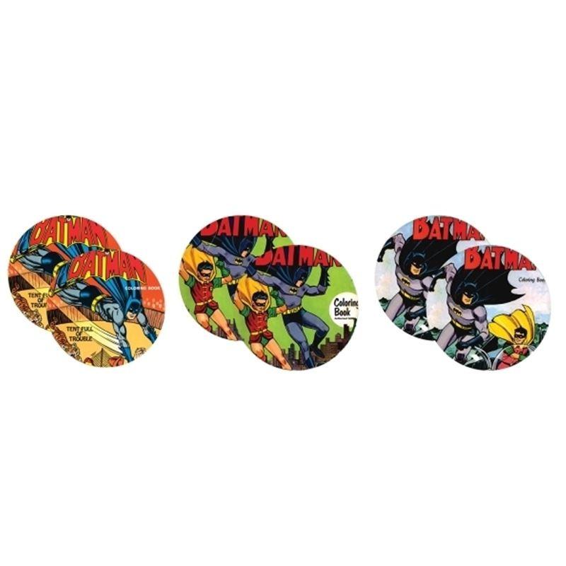 Batman e Robin Vintage - Conjunto com 6 Porta Copos