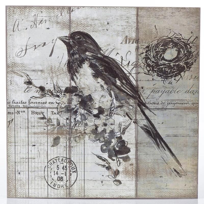 Pássaro Preto - Quadros Natureza