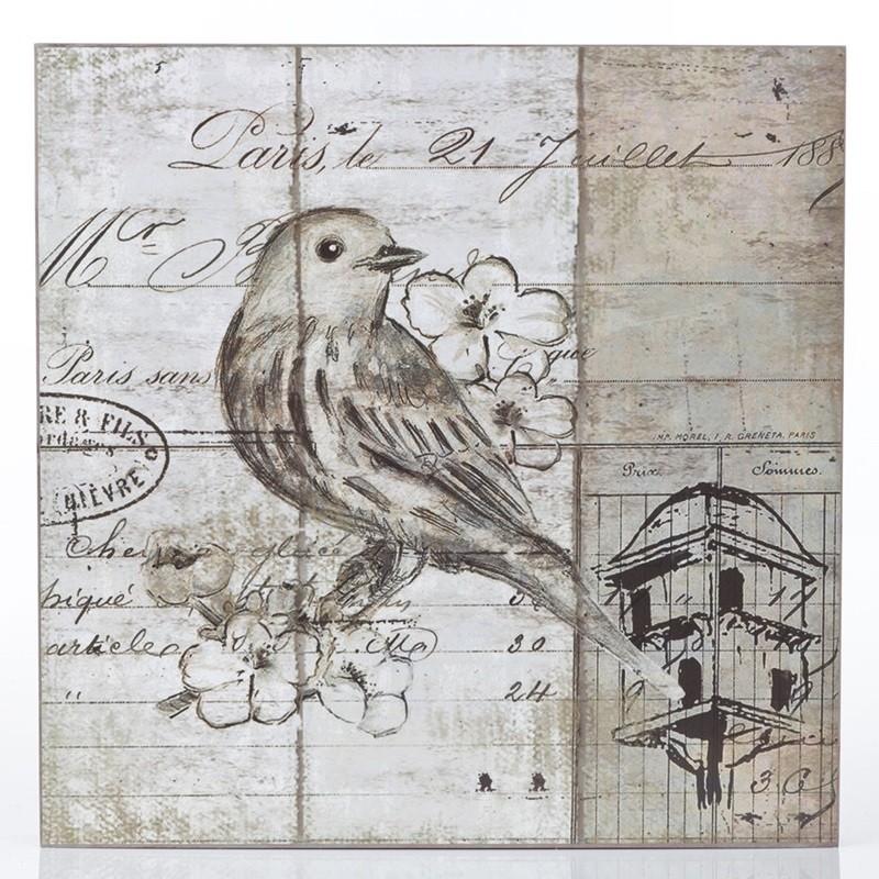 Pássaro Branco - Quadros Natureza