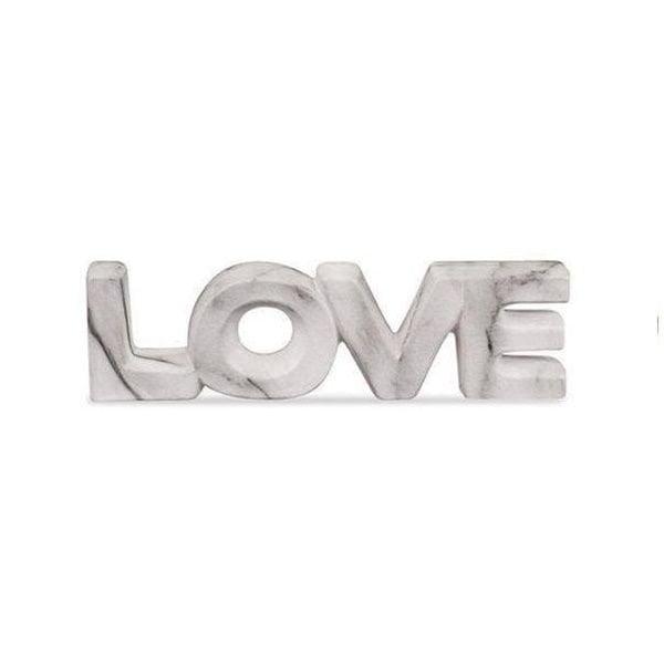 Love Mármore - Palavra Decorativa em Cerâmica