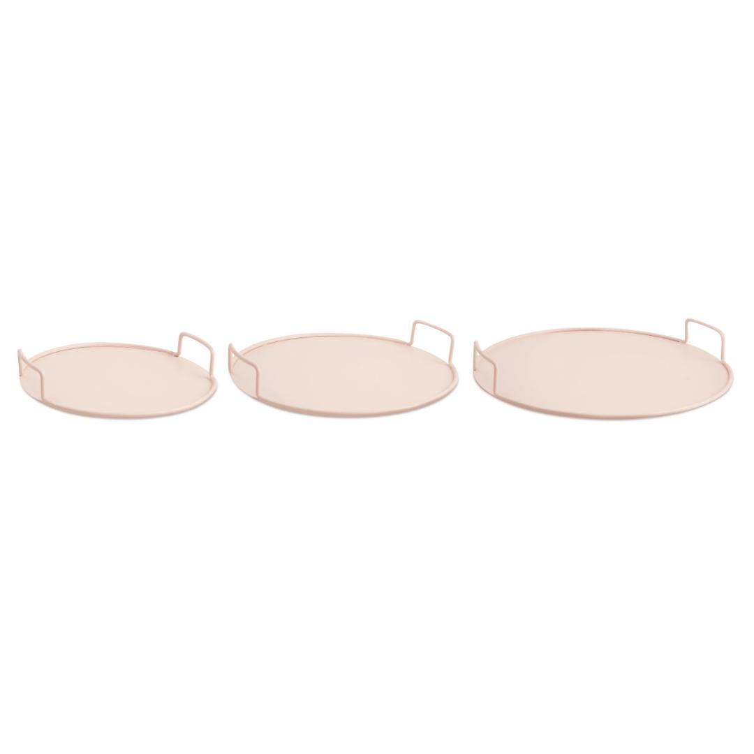 Nude - Kit com 3 Bandejas em Metal
