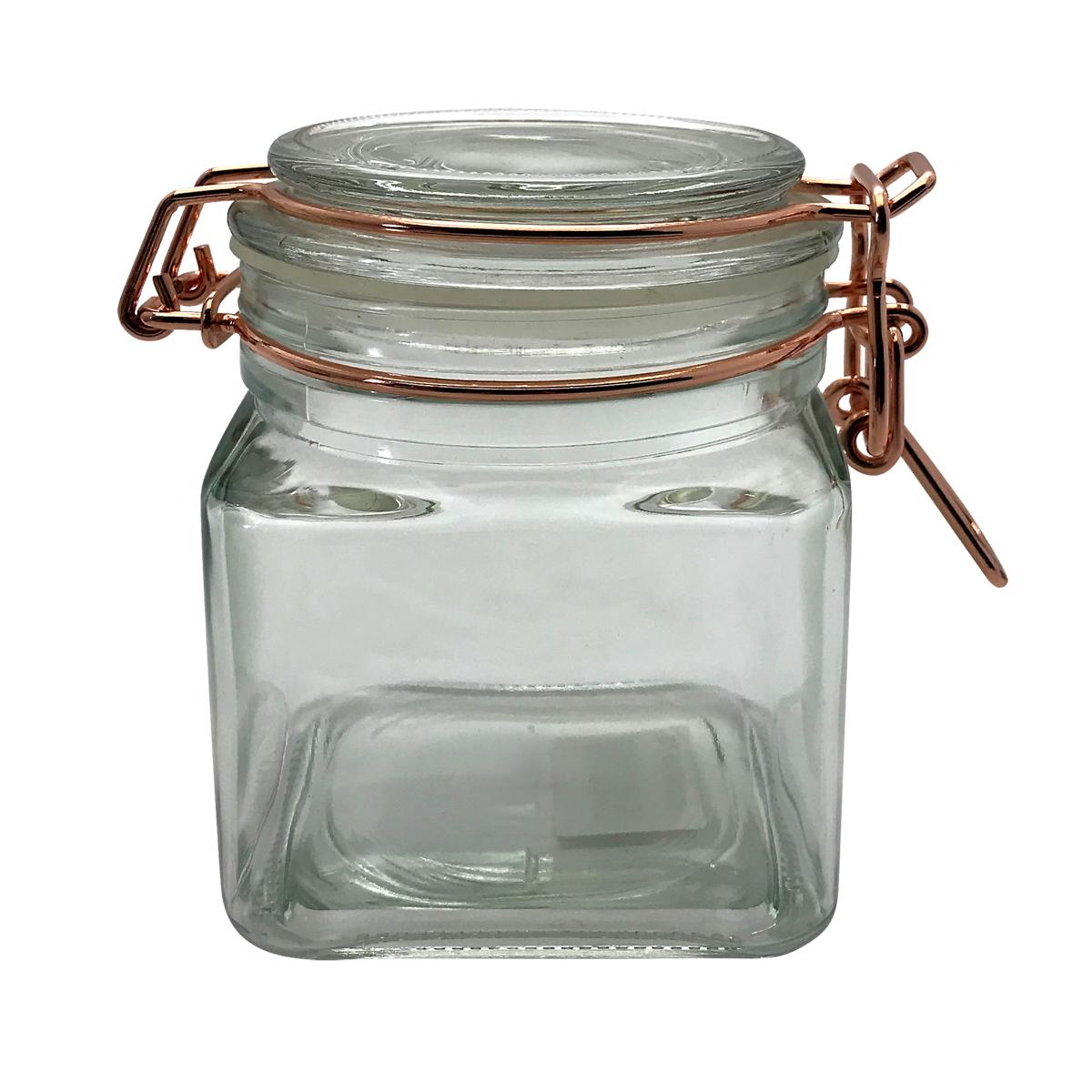 Flip Quadrado - Pote Hermético de Vidro  Borossilicato 360 ml