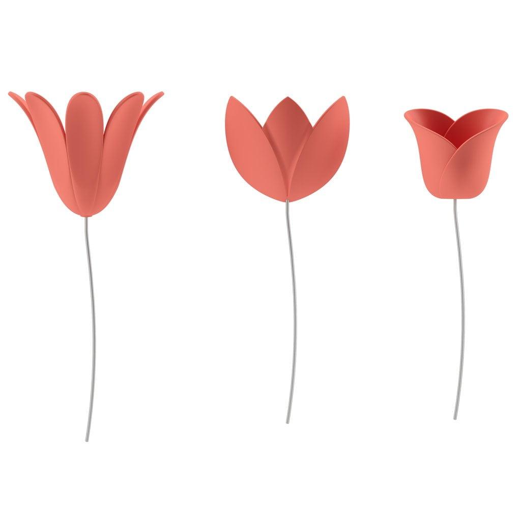 Bloomer - Conjunto Decorativo Flores 3D Com 9 Peças
