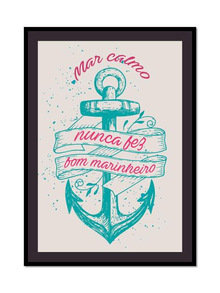 Mar Calmo - Poster com Moldura