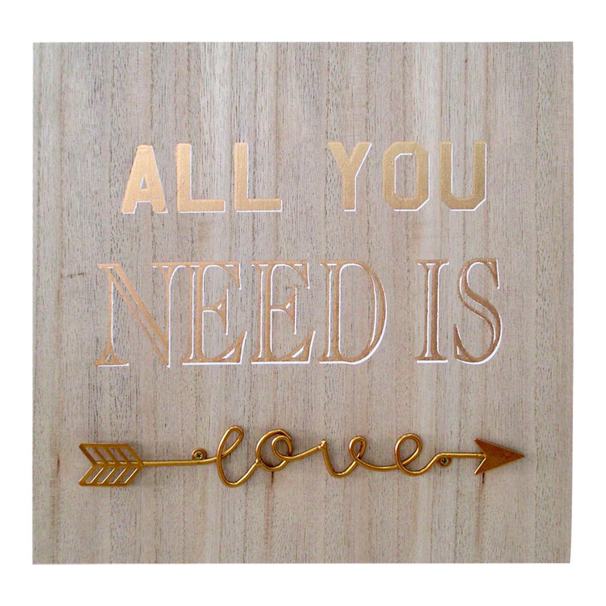 All You Need Is Love - Quadro Alto Relevo