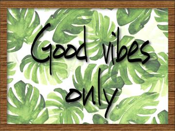 Good Vibes - Quadro com Moldura e Vidro