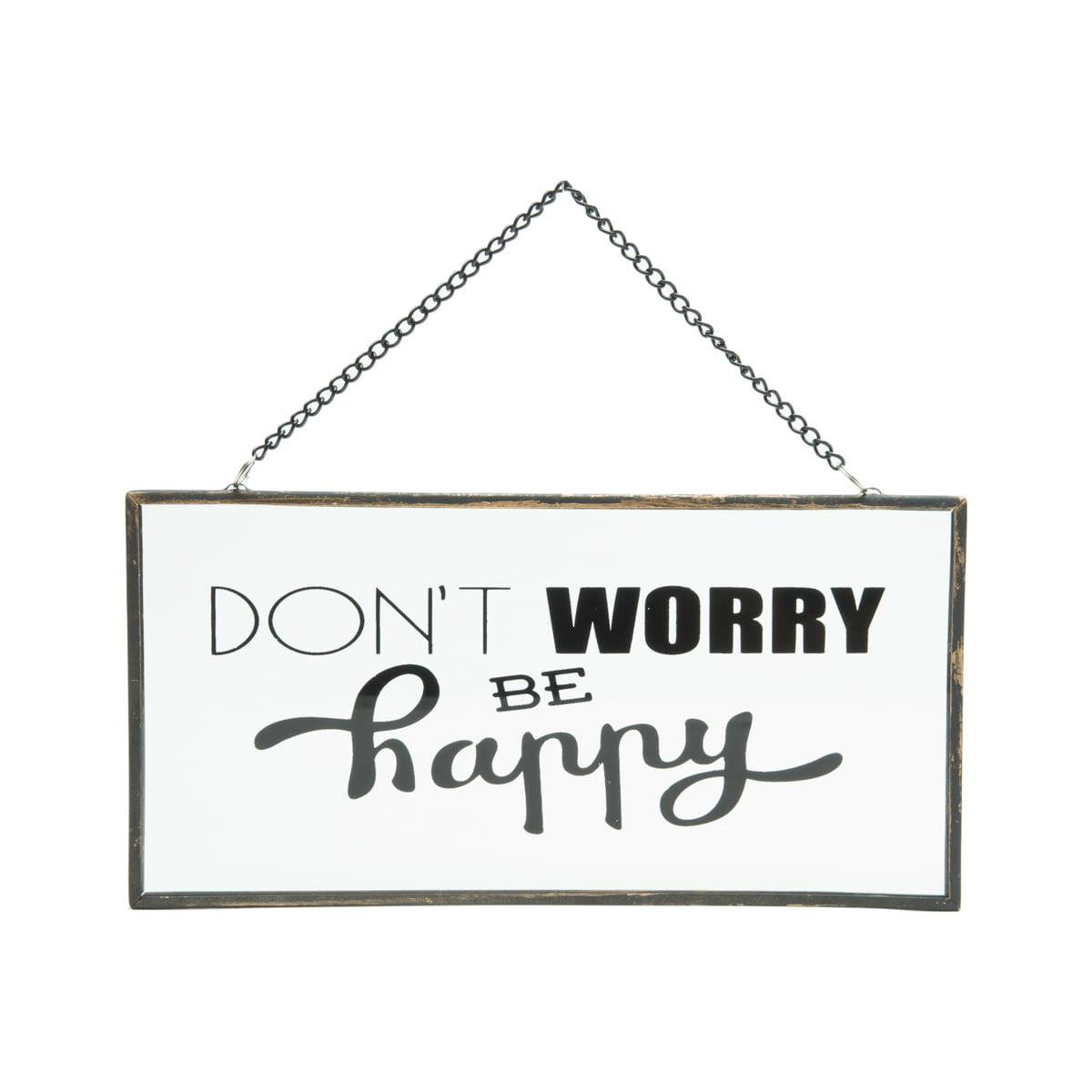 Be Happy - Placa Decorativa de Vidro