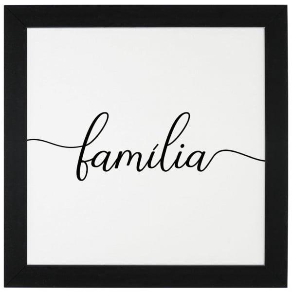 Família - Quadro Com Moldura