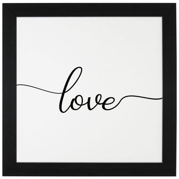 Love - Quadro Com Moldura