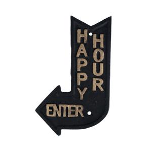 Happy Hour - Placa Decorativa de Ferro