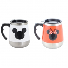 Mickey e Minnie Mouse - Kit 2 Canecas Térmicas