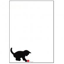 Gato Preto - Porta Recados de Geladeira