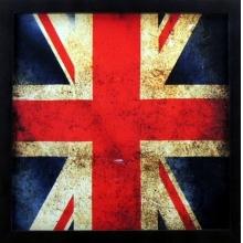Bandeira Envelhecida Grã Bretanha - Quadro