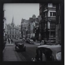 Rua Antiga - Quadro Retrô com Vidro
