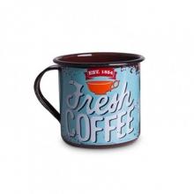 Fresh Coffee - Tamanho M - Caneca de Metal