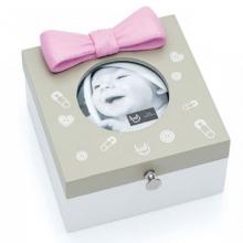Laço Rosa - Caixa Porta Retrato