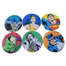 Heróis vs Vilões DC Comics - Kit com 6 Porta Copos