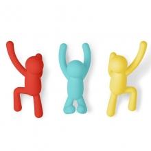 Buddy - Colorido - Conjunto com 3 Cabideiros de Parede