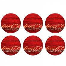 Coca-Cola - Madeira - Porta Copos