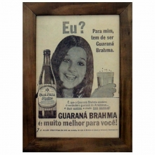 Guaraná Brahma - Quadros Retrô