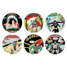 Capas da DC Comics - Conjunto Com 6 Porta Copos