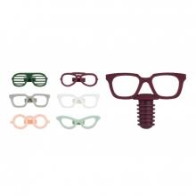 Glasses - Conjunto para Vinho Cores Sóbria 7 peças (Rolha + Marcadores de taça)