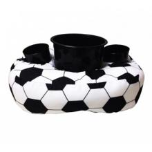 Bola de Futebol - Almofada Com Kit Pipoca (1 Balde + 2 Copos)