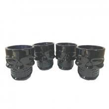 Caveiras Black Skull - Kit Copos para Shot