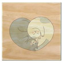 Coração de Gatos - Imã de Geladeira