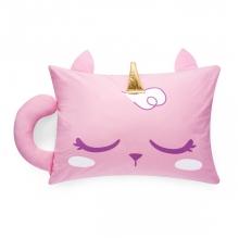 Gato Unicórnio - Fronha com aplique