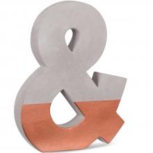 Letra & - Cobre  - Letra Decorativa Em Cimento