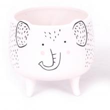 Elefantinhos - Kit com 3 Vasinhos em Cerâmica