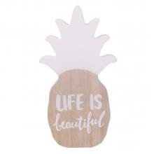 Life is Beautiful - Abacaxi Branco Decorativo