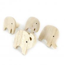 Elefantes - Conjunto Com 4 Cabideiros em Madeira