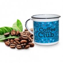 Coffee Club - Tamanho P - Caneca de Metal