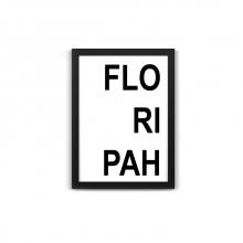 Florianópolis - Quadro Divertido de Metal