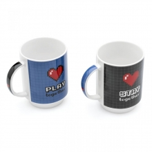 Geek Love - Kit com 2 Canecas Empilháveis