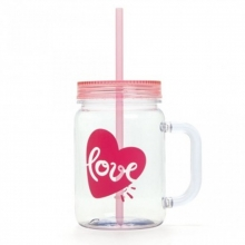 Love Flamingos - Caneca Pote