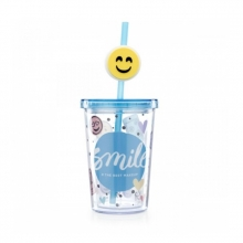 Mini Smile - Copo Com Canudo e Pingente