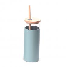 Bamboo - Copo Com Canudo Eco Frendly Bambu + Silicone
