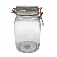 Flip Quadrado - Pote Hermético de Vidro  Borossilicato 1,5 Litros