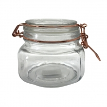 Flip Quadrado - Pote Hermético de Vidro  Borossilicato 500 ml