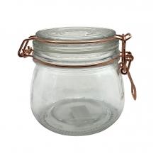Flip Redondo - Pote Hermético de Vidro  Borossilicato 500 ml