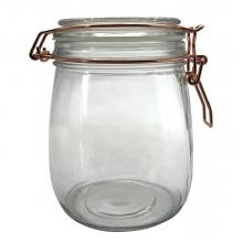 Flip Redondo - Pote Hermético de Vidro  Borossilicato 800 ml
