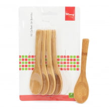 Summer - Kit com 5 Colheres de Bambu