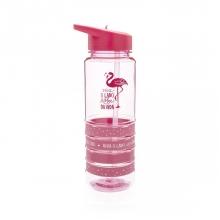 Flamingos - Kit  Garrafa com Pulseiras + Sacochila